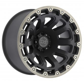 BLACK RHINO RAZORBACK 20×12.0 8/180 ET-44 CB125.1 MATTE BLACK W/MACHINE DARK TINT LIP