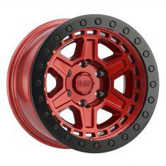 BLACK RHINO RENO 20x9.5 5/150 ET12 CB110.1 CANDY RED W/BLACK LIP EDGE AND BLACK BO