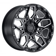 BLACK RHINO SHRAPNEL 20x9.5 5/150 ET12 CB110 GLOSS BLACK W/MILLED SPOKES