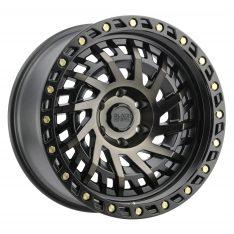 BLACK RHINO SHREDDER 20x9.5 5/150 ET12 CB110.1 MATTE BLACK W/MACHINED DARK TINT