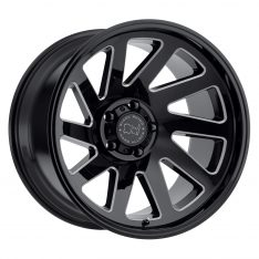 BLACK RHINO THRUST 22x12.0 5/127 ET-44 CB71.6 GLOSS BLACK W/MILLED SPOKES