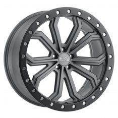 BLACK RHINO TRABUCO 22x10.0 5/130 ET35 CB84.1 MATTE GUNMETAL W/BLACK LIP EDGE AND