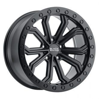 BLACK RHINO TRABUCO 22×10.0 5/130 ET35 CB84.1 MATTE BLACK W/BLACK BOLTS