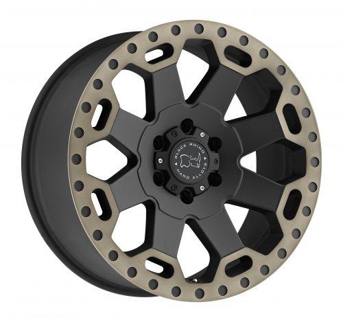 BLACK RHINO WARLORD 22×10.0 5/150 ET00 CB110.1 MATTE BLACK W/MACHINE DARK TINT LIP