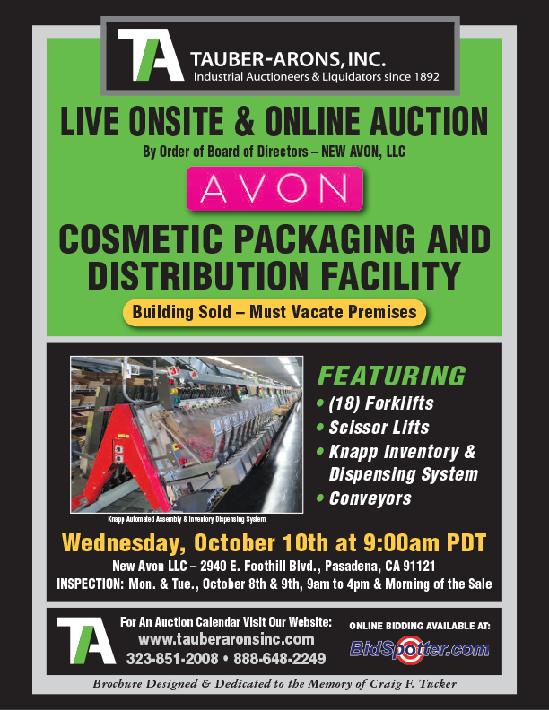 Past Auctions Tauber Arons Industrial Auctioneers Appraisals