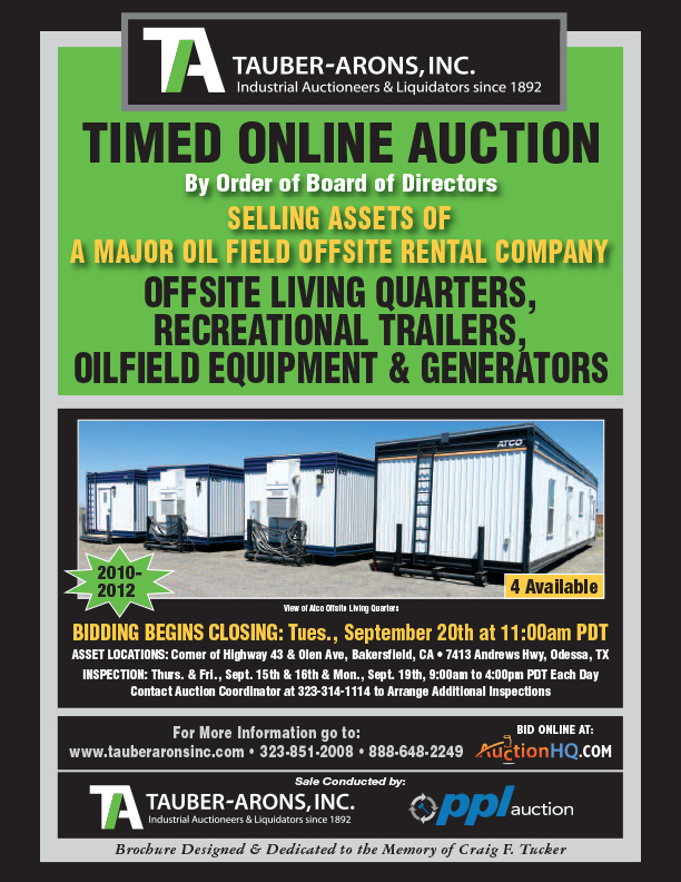 Past Auctions | Tauber-Arons | Industrial Auctioneers & Appraisals