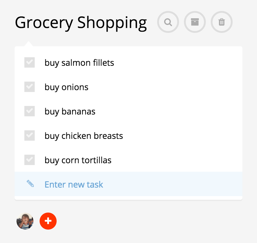 to-do list with tasks