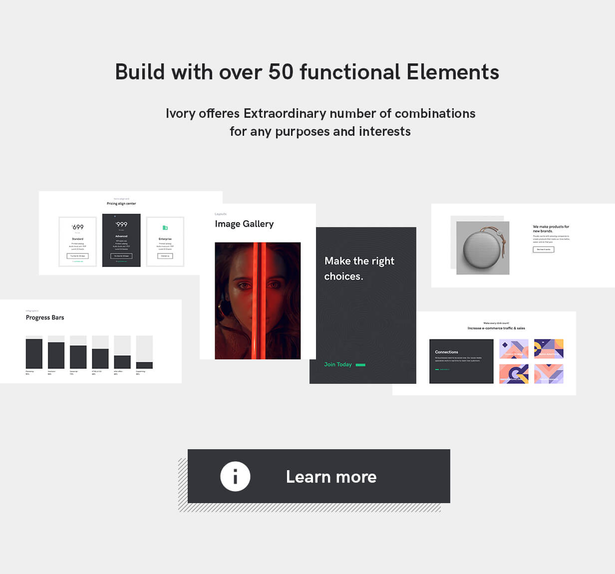 Ivory HTML5 template Elements
