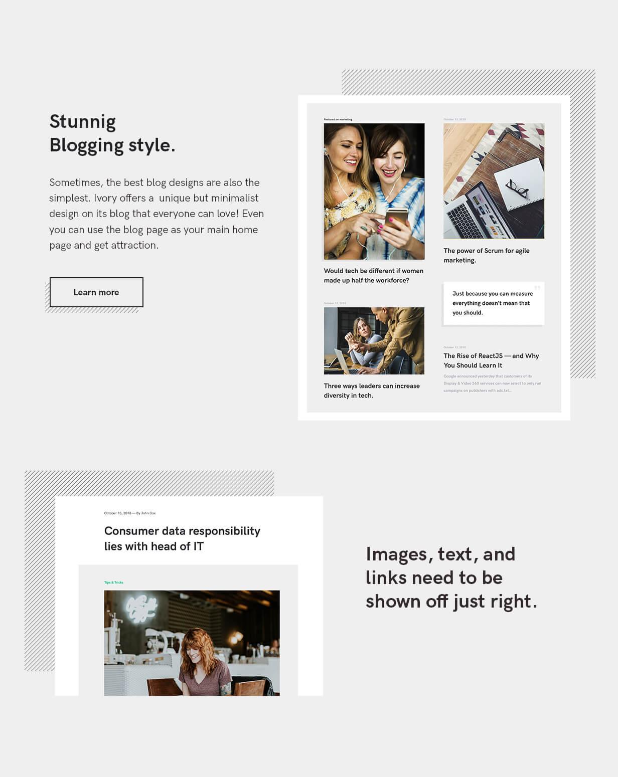 Ivory HTML5 template Blog