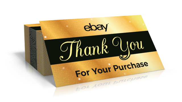 150 ebay seller thank you business cards 5 star feedback rating gold ebay thank you card front reheart Gallery
