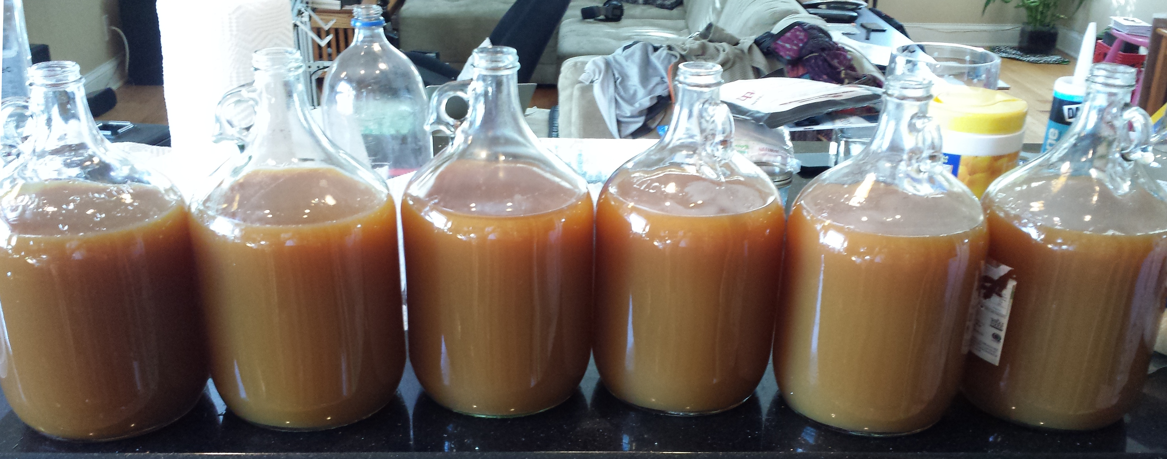 6 jugs of cider