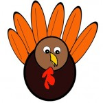 Scissor Cutting Turkey Template
