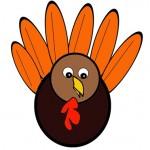 Scissor Cutting Turkey Template