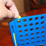 My new favorite fine motor toy: connect 4 on the run