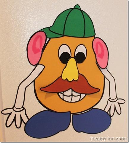 graphic regarding Mr Potato Head Parts Printable named Magnetic Mr. Potato Brain - Treatment Exciting Zone