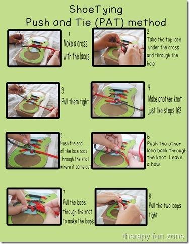 shoe tying push and tie (PAT) method copy