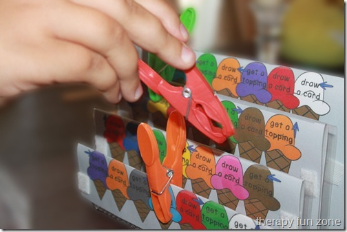 Therapy Fun Zone: awesome clothespin tower games
