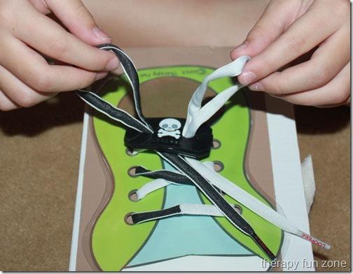 shoe tying with loopeez 2