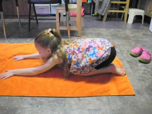 Yoga is a fun activity to strengthen core muscles and enhance vision skills.
