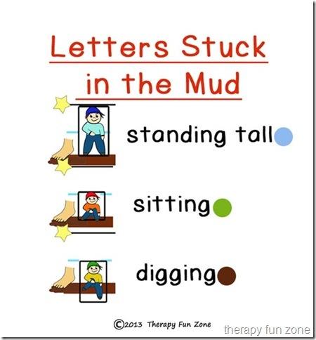mud letter sizes