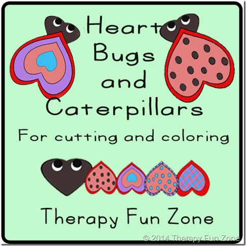 heart bugs for coloring and cutting