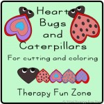 Coloring and Cutting Heart Bugs and Caterpillars