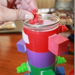 Color matching velcro block fine motor toy