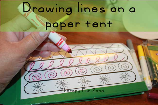 drawing-on-tent