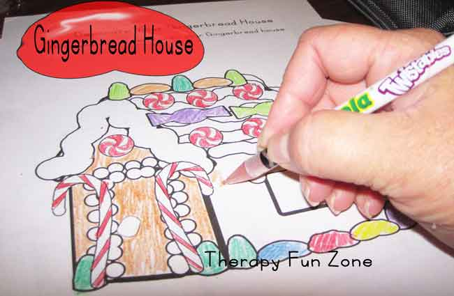 decorating-a-paper-gingerbread-house