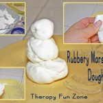 Rubbery Marshmallow Play Dough