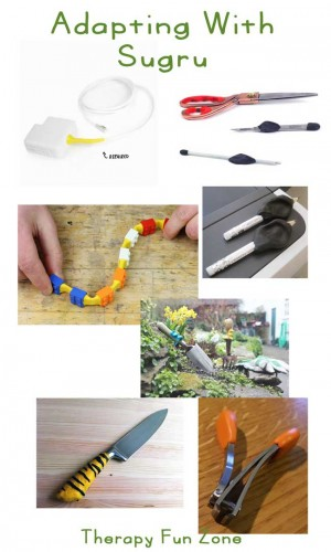 adapting with sugru: therapy fun zone. It is an awesome moldable rubber
