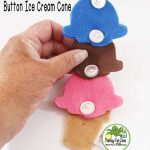 A Fun Summer Buttoning Ice Cream Cone