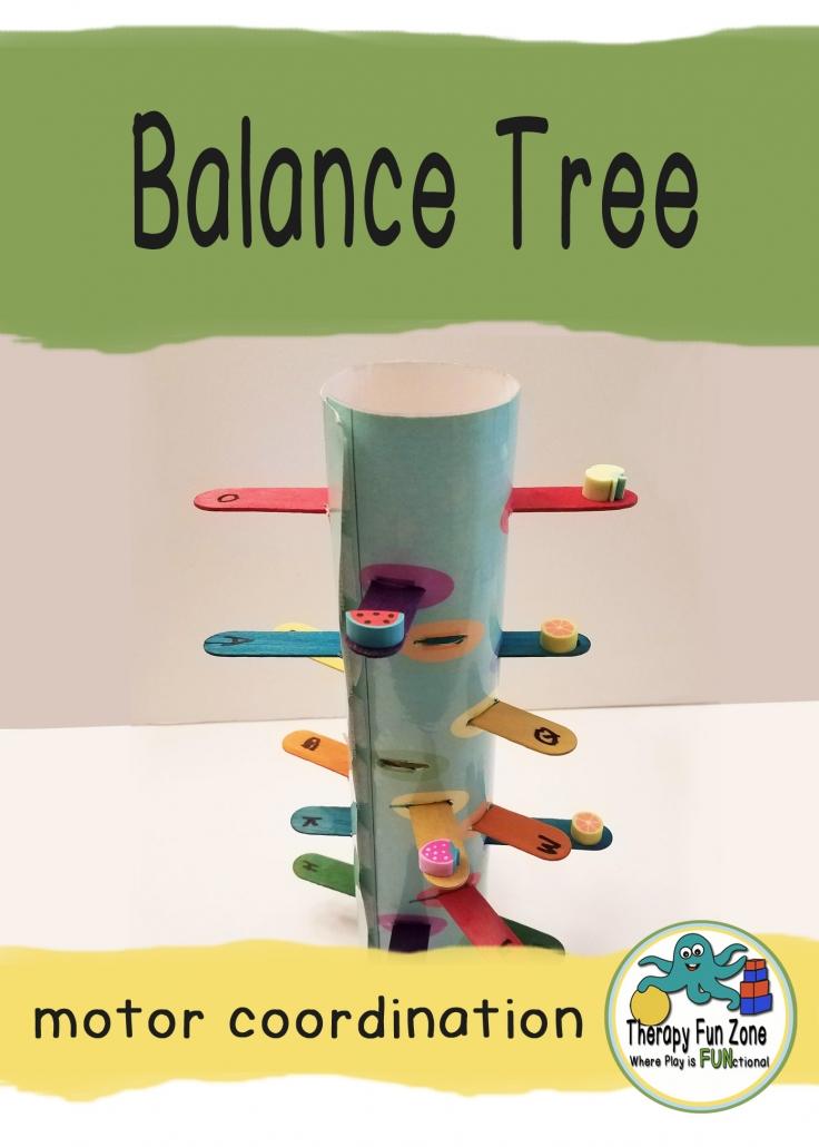 Make a fine motor balance tree — Therapy Fun Zone