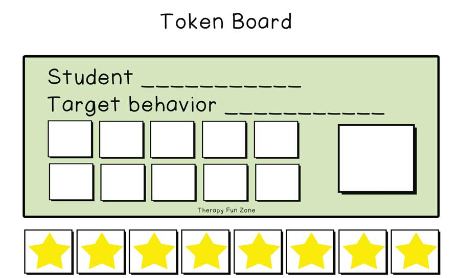 graphic about Token Board Printable called Token Board template Treatment method Entertaining Zone