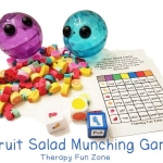 Fruit Munching Fine Motor Activies