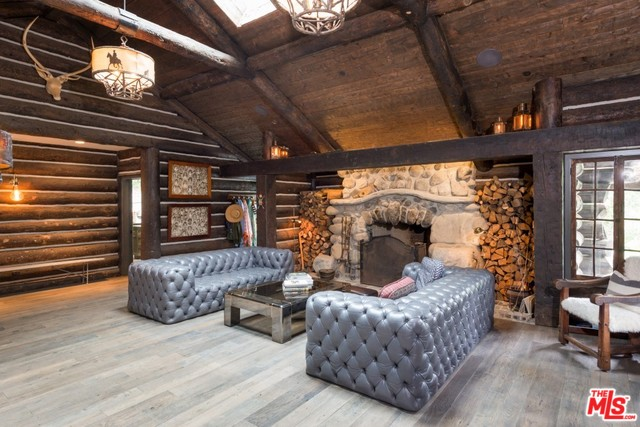 Contemporary Log Cabin in Rustic Canyon
