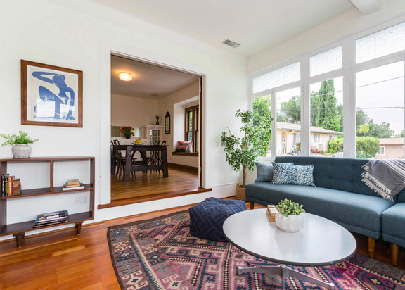 This classic 1922 traditional home sits proudly above a tree-lined street on the border of Eagle Rock and Highland Park.