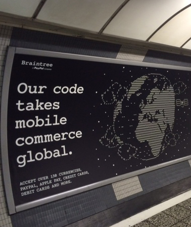 our code takes mobile commerce global