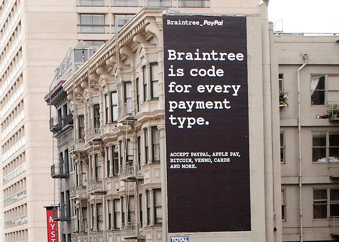 braintree is code for every payment type