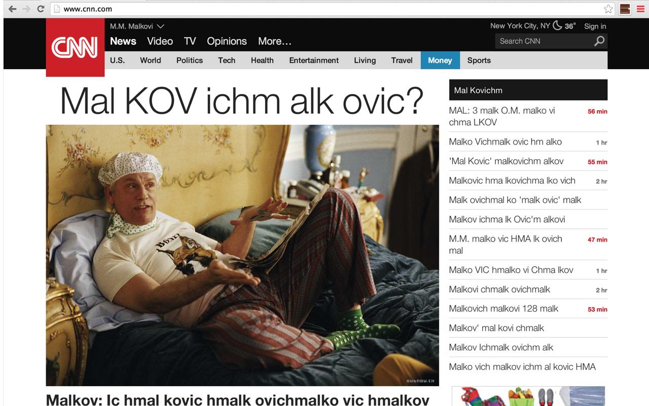 Malkovich-CNN