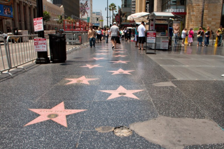 8. Paseo de la Fama de Hollywood