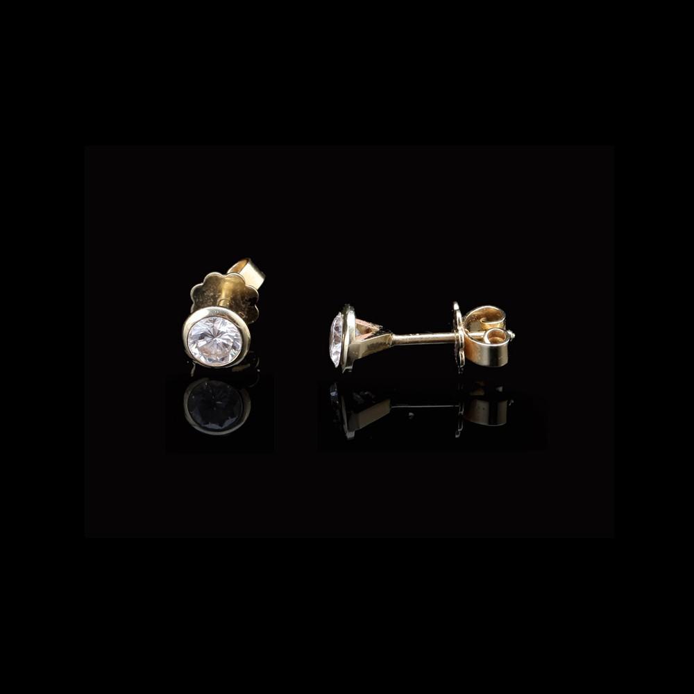 זוג עגילי זהב 18K