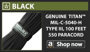 Titan Black Paracord