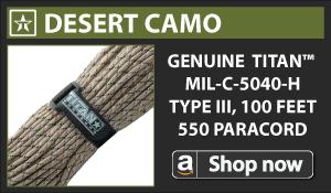 Titan Desert Camo Paracord