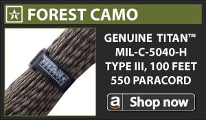 Titan Forest Camo Paracord
