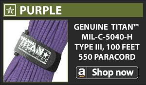 Titan Purple Paracord