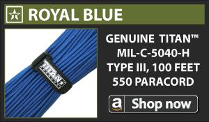 Titan Royal Blue Paracord