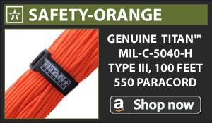 Titan Safety-Orange Paracord