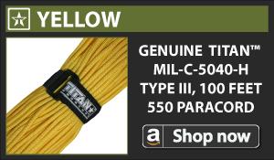 Titan Yellow Paracord