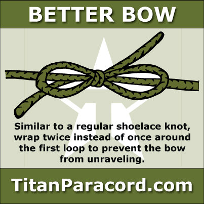 Titan Paracord Better Bow Knot